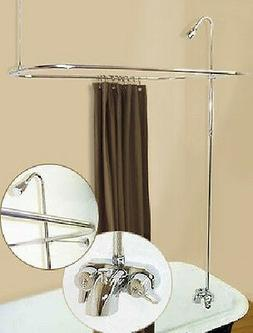 Add A Shower Converter Kit For Clawfoot Tub with Diverter Fa