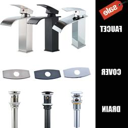 Bathroom Basin Faucet Waterfall Spout Sink Mixer Tap With Dr