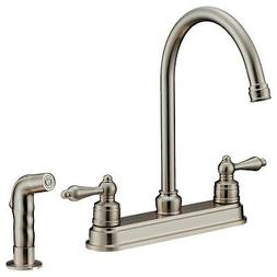 Kitchen Faucet Pullout Brushed Nickel LK8B by LessCare