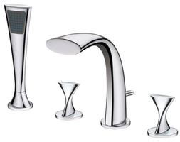 Ultra Faucets UF65340 Twist Collection Two-Handle Roman Bath